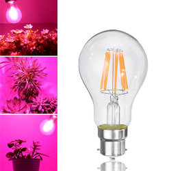 8W A60 E27 B22 COB Non-Dimmable LED Plant Grow Light Bulb for Hydroponics Greenhouse AC85-265V 1