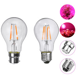 E27 B22 4W A60 COB Non-Dimmable LED Grow Light Bulb for Plant Hydroponic Greenhouse AC85-265V 1