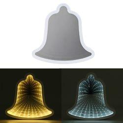 Creative Cute Bell Mirror Lamp LED Tunnel Night Light for Kid Gift Atmosphere Light White/Warm White 1