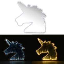 Creative Cute Unicorn Mirror Lamp LED Tunnel Night Light for Kid Atmosphere Light White/Warm White 1
