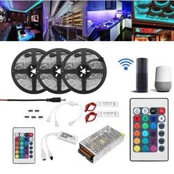 15M 2835 RGB Flexible IP65 Smart Wifi Control APP LED Strip Light Kit Work With Alexa AC110-240V Christmas Decorations Clearance Christmas Lights 1