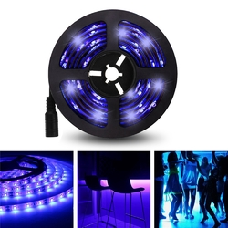 5M 3528SMD Non-waterproof UV Purple LED Strip Light with DC Connector DC12V 1