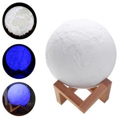 15cm Magical Three Tone Earth Table Lamp USB Rechargeable LED Night Light Tap Sensor Gift 1