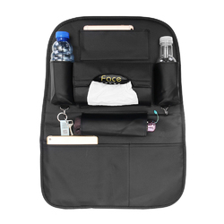 PU Leather Car Seat Back Storage Bag Waterproof Seat Cover Multi-functional Cup Holder Organizer 1