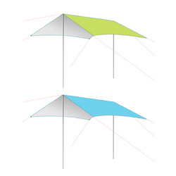 Outdoor 3-4 People Camping Tent Sunshade UV Proof Outdoor Picnic Beach Canopy Shade 1
