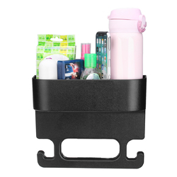 Plastic Car Seat Crevice Back Storage Box Seat Gap Filler Multifunctional Handrail Hanger Hook 1