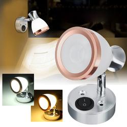 12V 3W LED Interior Frosted Glass LED Mini Spot Light Reading Night Lamp for Caravan Cabinet 1