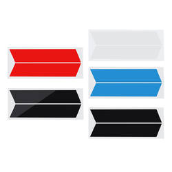 2Pcs Car Vinyl Stripes Truck Racing Stickers Graphic Decal Universal for Dodge Ram 1