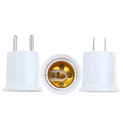 AC100-240V 4A PBT Fireproof EU US Plug to E27 Bulb Adapter Converter Lamp Holder 1