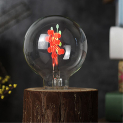 E27 3W G80 Snowflake Non-Dimmable Red&Green Christmas Incandescent Light Bulb AC220-240V 1