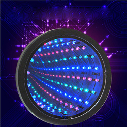Sensory Infinity Mirror Light LED Tunnel Wall Relaxing Calm Stage Lamp 1