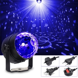 3W UV Purple LED Stage Light Self-propelled/Voice-activated/Flashing Crystal Ball Party Disco Club 1
