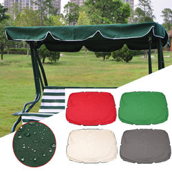 Summer Swing Top Cover Canopy Replacement Furniture Waterproof Cover for Garden Courtyard Outdoor Swing Chair Hammock Canopy Swing Chair Awning 1