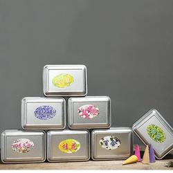 50Pcs/Box 7 Fragrances Backflow Incense Cone 15 Minutes Home Decor Fragrant Burner Censer Cones 1