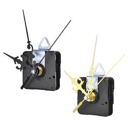12mm Gold/Black Quartz Silent Clock Movement Mechanism Module DIY Kit Hour Minute Second without Bat 1