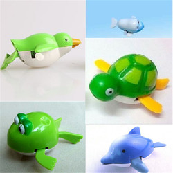 Cute Wind-Up Water Pool Bath Diver Plastic Toy Swimming Baby Kids Bath Toys 1