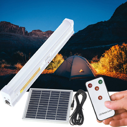 Solar Powered 30 LED Light Bar Home Room Camping Outdoor Garden Hanging Lamp With Remote Control 1