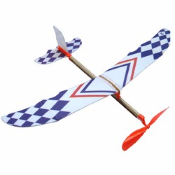 10 PCS DIY Foam Elastic Powered Glider Plane Toy Thunderbird Flying Model Aircraft Toy 1