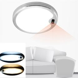 DC12V 5W Round Hand Wave Sensor LED Switch Cabinet Light Aluminum Kitchen Wardrobe Counter Lamp 1