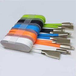 Steel Cable Connectors And Super Strong Charging Cable For Your Smart Gadgets -Color: Orange, Type: Samsung - MicroUsb 1