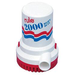 Rule 2000 GPH Non-Automatic Bilge Pump w/6' Leads 1