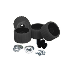 C.E. Smith Ribbed Roller Replacement Kit - 4 Pack - Black 1