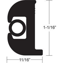 "TACO Flex Vinyl Rub Rail Kit - Black w/Black Insert - 50' - 1-1/16"" 1"