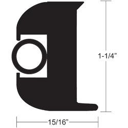 "TACO Flex Vinyl Rub Rail Kit - Black w/Black Insert - 50' - 1-1/4"" 1"