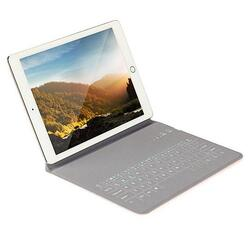 Ultra Thin Apple iPad Case With Touch Sensor Surface Keyboard And Stand -Size: iPAD Air 1/2/3, Color: Silver 1