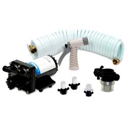 Shurflo by Pentair BLASTER&tradeII Washdown Kit - 12VDC 3.5GPM w/25&#39 Hose Nozzle Strainer &amp Fittings 1