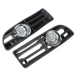 Car Front Bumper Grille Grill Driving Fog lights with Switch and Harness for Volkswagen Jetta Bora 1999-2004 1