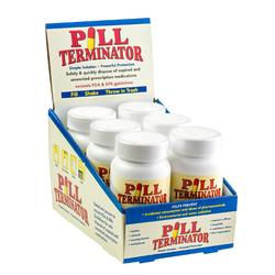 Pill Terminator Countertop Display Contains 6 Bottles 1
