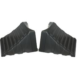 "Camco Nesting Wheel Chocks - Dark Gray - Tires up to 26"" - Pair 1"