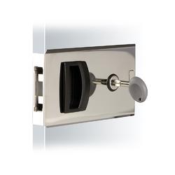 Southco Flush Sliding Door Latch - Square - Aluminum 1