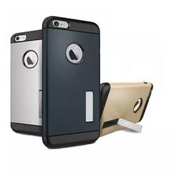 Slim Armour Double Layer Case for iPhone 6/6s/6Plus w/ Kick Stand -Color: Dark Grey, Model: iPhone 6 Plus 1