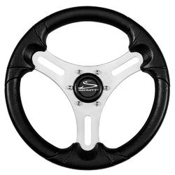 "Schmitt &amp Ongaro 13"" Torcello Lite - Polyurethane Wheel - 3/4"" Tapered Hub - Silver/Black 1"