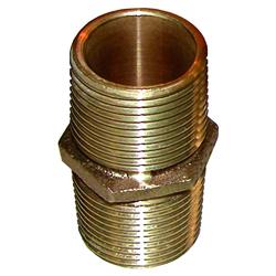 "GROCO Bronze Pipe Nipple - 1/2"" NPT 1"