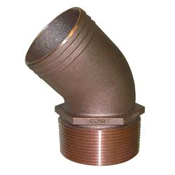 "GROCO 1-1/4"" NPT Bronze 45 Degree Pipe to 1-1/4"" Hose 1"