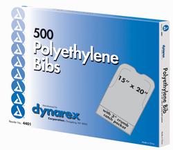 Disposable Polyethylene Bibs W/Crumb Pocket 15 x20 Bx/500 1