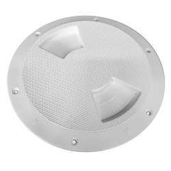 "Sea-Dog Textured Quarter Turn Deck Plate - White - 6"" 1"