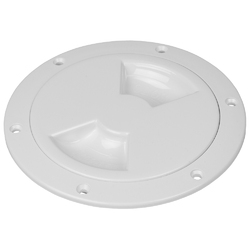 "Sea-Dog Smooth Quarter Turn Deck Plate - White - 8"" 1"