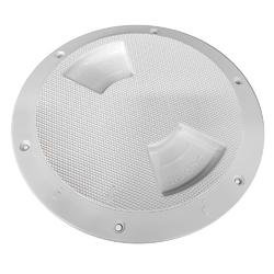 "Sea-Dog Quarter-Turn Textured Deck Plate w/Internal Collar - White - 6"" 1"