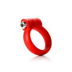 """Tantus Vibrating C- Ring 2"""" - Red 1"""