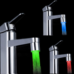Color Changing LED Faucet Color Changing Water Tap Light Silver 1