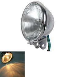 Motorcycle Chrome Front Headlight for Harley Bikes Chopper Touring 1