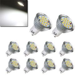 10X GU10 7W 640LM Pure White 16 SMD 5630 LED Light Bulbs Lamps AC85-265V 1