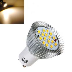 8X GU10 6.4W 16 SMD 5630 LED Warm White Spot Bulb 185-265V 1