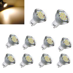 10X GU10 6.4W 16 SMD 5630 LED Warm White Spot Bulb 85-265V 1