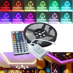 5M RGB 5050 SMD Non-waterproof 300 LED Lights Strip DC 12V+44Keys IR Remote Control 1