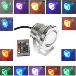 10W 12v Underwater RGB Waterproof LED Pool Light With Remote Control 1